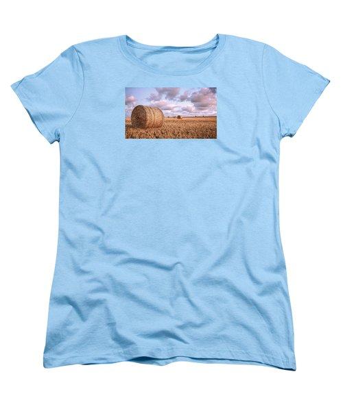 Bundy Hay Bales #1 Women's T-Shirt (Standard Cut) by Brad Grove