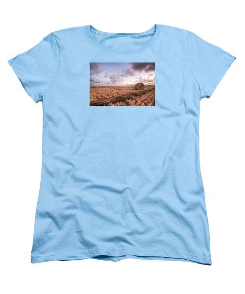 Bundy Hay Bales #2 Women's T-Shirt (Standard Cut) by Brad Grove