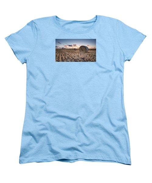 Bundy Hay Bales #4 Women's T-Shirt (Standard Cut) by Brad Grove