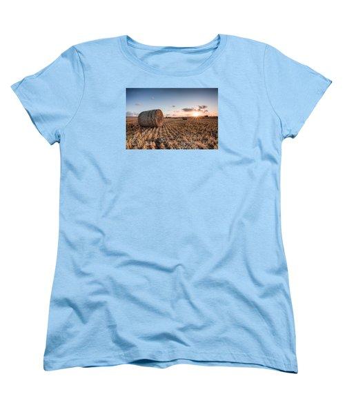 Bundy Hay Bales #5 Women's T-Shirt (Standard Cut) by Brad Grove