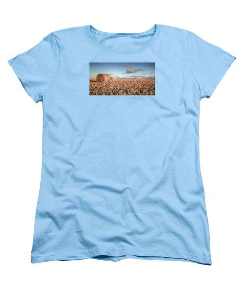 Bundy Hay Bales #6 Women's T-Shirt (Standard Cut) by Brad Grove