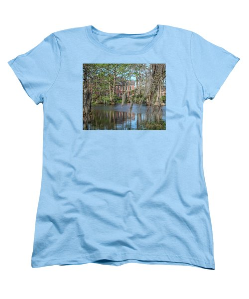 Women's T-Shirt (Standard Cut) featuring the photograph Burke Hall Cypress Lake by Gregory Daley  PPSA