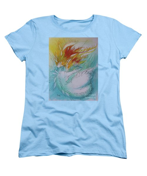 Women's T-Shirt (Standard Cut) featuring the drawing Burning Thoughts by Marat Essex