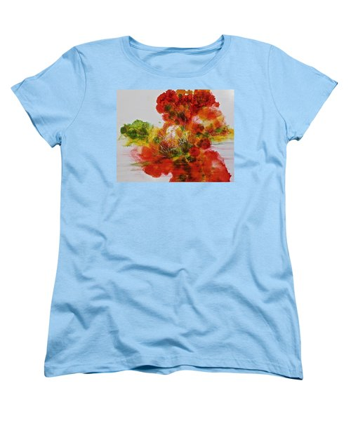 Women's T-Shirt (Standard Cut) featuring the painting Burst Of Nature, II by Carolyn Rosenberger