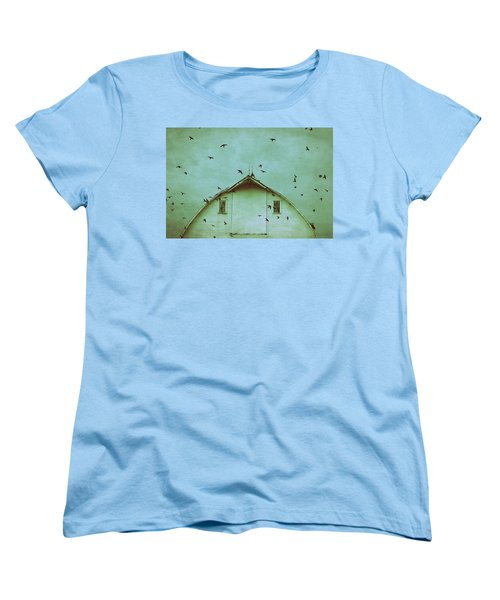 Busy Barn Women's T-Shirt (Standard Cut) by Julie Hamilton