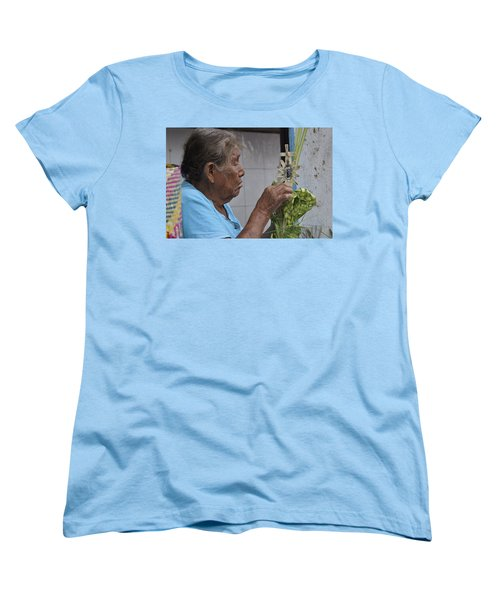 Women's T-Shirt (Standard Cut) featuring the photograph Busy Hands by Jim Walls PhotoArtist