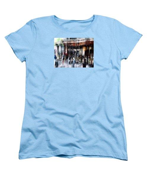 Busy Sidewalk Women's T-Shirt (Standard Cut) by John Rivera