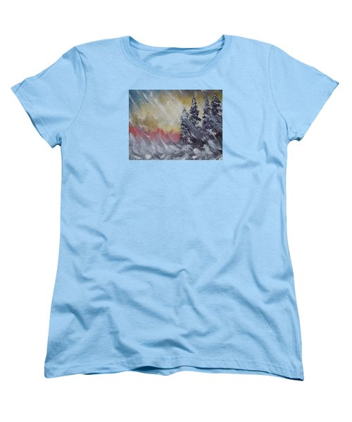 But The Weather Man Said.... Women's T-Shirt (Standard Cut) by Dan Whittemore