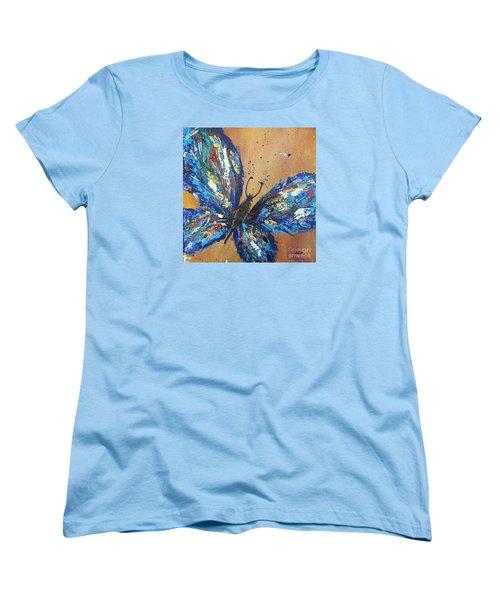 Butterfly Blue Women's T-Shirt (Standard Cut)