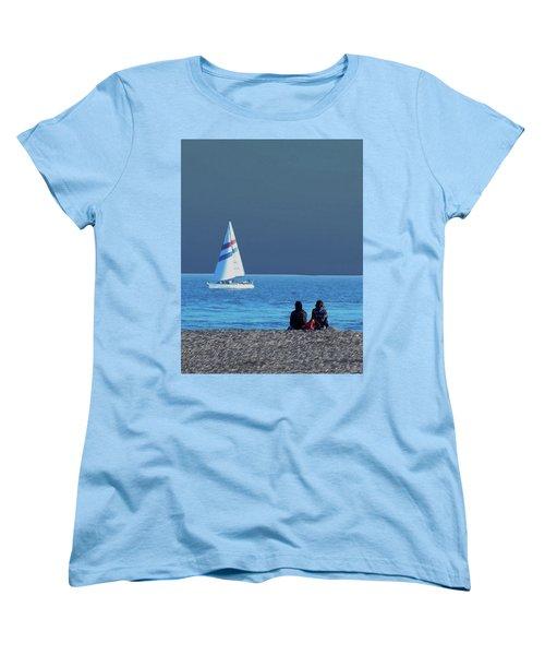 By The Sea Women's T-Shirt (Standard Cut) by B Wayne Mullins
