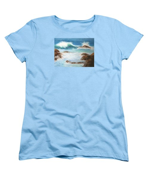 Women's T-Shirt (Standard Cut) featuring the pastel By The Sea by Marna Edwards Flavell