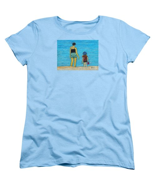 By The Sea Women's T-Shirt (Standard Cut) by Reb Frost