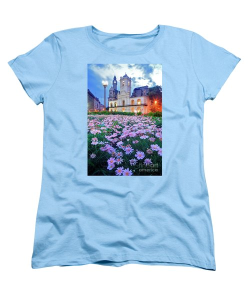 Women's T-Shirt (Standard Cut) featuring the photograph Cabildo De Buenos Aires by Bernardo Galmarini