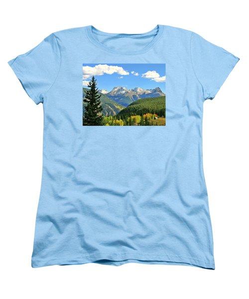 Cabin In The San Juans Women's T-Shirt (Standard Cut) by Scott Mahon