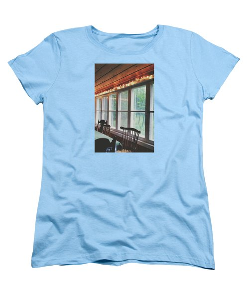 Women's T-Shirt (Standard Cut) featuring the photograph Cabin In The Woods by Nikki McInnes