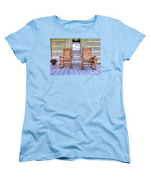 Cabin Porch Women's T-Shirt (Standard Cut) by Marion Johnson