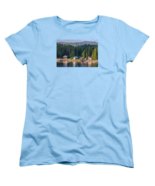 Cabins On The Water Women's T-Shirt (Standard Cut) by Lewis Mann
