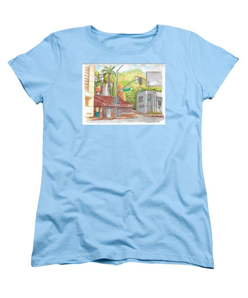 Cabo Cantina, Sunset Blvd And Sweetzer Ave., West Hollywood, California Women's T-Shirt (Standard Cut) by Carlos G Groppa