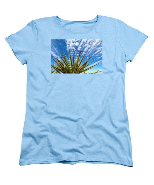 Cactus And Blue Sky Women's T-Shirt (Standard Cut) by Amyn Nasser
