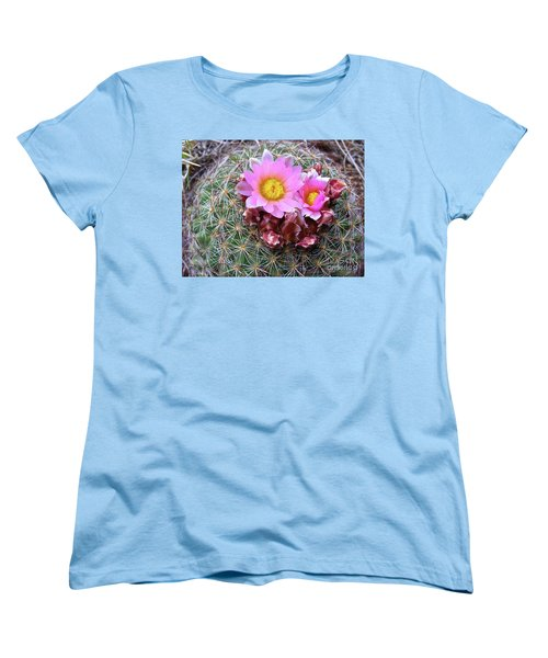 Cactus Flower  Women's T-Shirt (Standard Cut) by Alan Johnson
