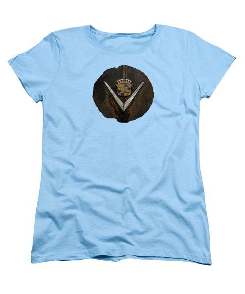 Caddy Emblem Women's T-Shirt (Standard Cut) by Debra and Dave Vanderlaan