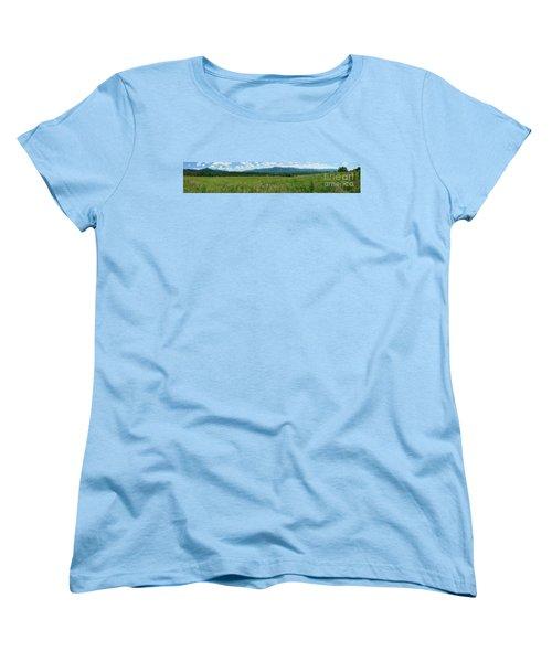 Women's T-Shirt (Standard Cut) featuring the photograph Cades Valley by Geraldine DeBoer