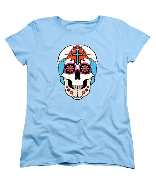 Calavera Graphic Women's T-Shirt (Standard Cut) by MM Anderson
