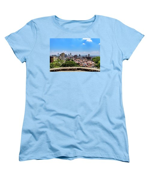 Cali Skyline Women's T-Shirt (Standard Cut) by Randy Scherkenbach