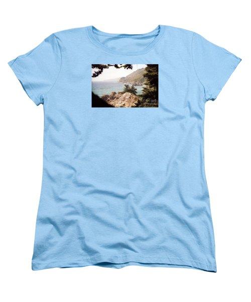 Calif Coast Drive Ocean View Women's T-Shirt (Standard Cut) by Ted Pollard
