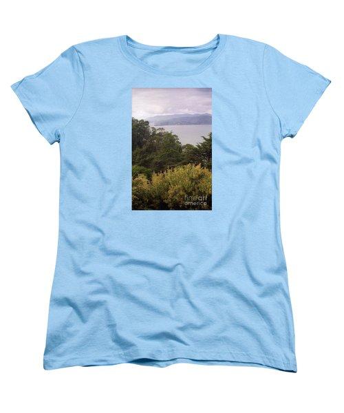 California Coast Fan Francisco Women's T-Shirt (Standard Cut) by Ted Pollard