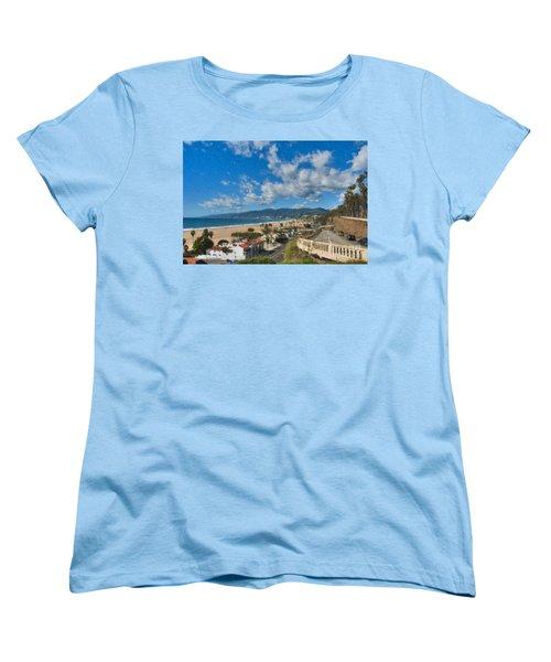 Women's T-Shirt (Standard Cut) featuring the photograph California Incline Palisades Park Ca by David Zanzinger