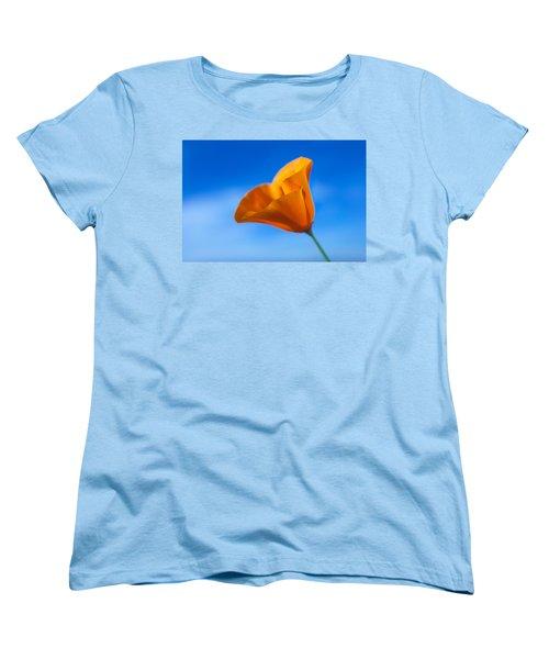 California Poppy Women's T-Shirt (Standard Cut) by Ralph Vazquez