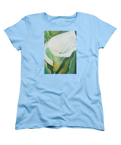 Calla Lily Women's T-Shirt (Standard Cut) by Ruth Kamenev