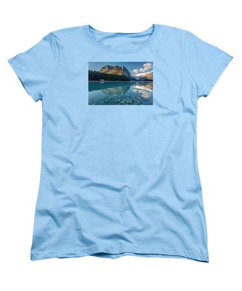 Calm Lake Louise Reflection Women's T-Shirt (Standard Cut) by Pierre Leclerc Photography