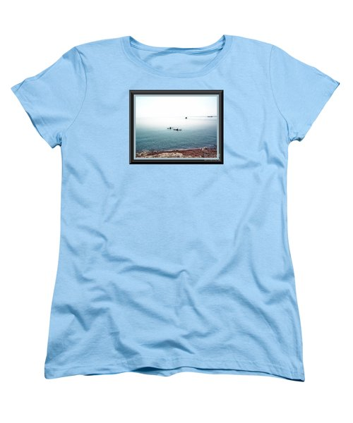 Calm Lake Superior Women's T-Shirt (Standard Cut) by Shirley Moravec