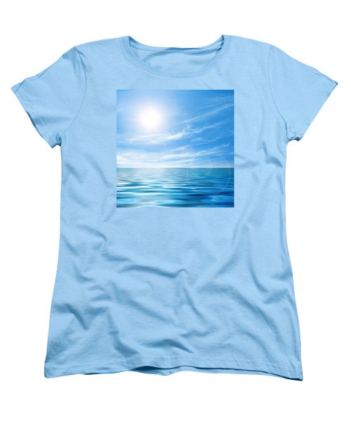 Calm Seascape Women's T-Shirt (Standard Cut) by Carlos Caetano