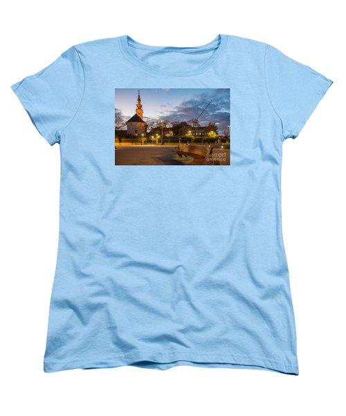 Calm Twilight In Novi Sad Vojvodina Women's T-Shirt (Standard Cut) by Jivko Nakev