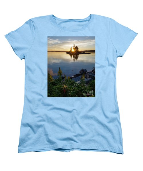 Calm Water At Sunset, Harpswell, Maine -99056-99058 Women's T-Shirt (Standard Cut) by John Bald