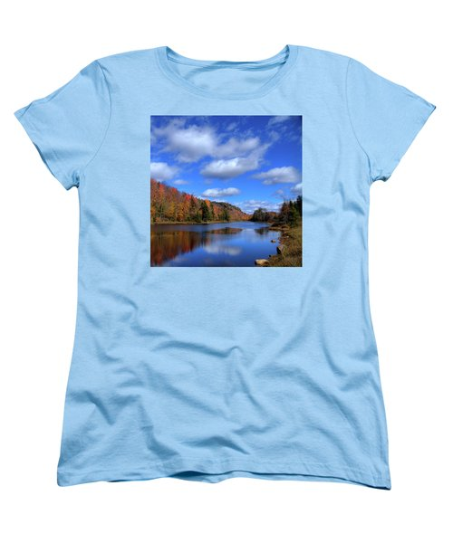Calmness On Bald Mountain Pond Women's T-Shirt (Standard Cut) by David Patterson