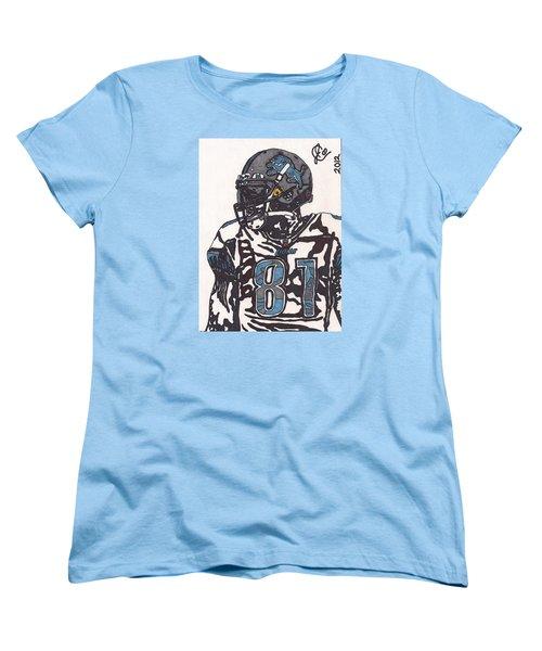 Calvin Johnson Jr 3 Women's T-Shirt (Standard Cut) by Jeremiah Colley