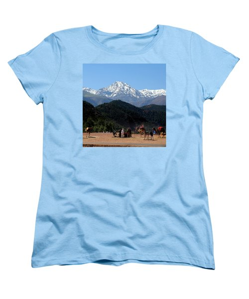 Women's T-Shirt (Standard Cut) featuring the photograph Camels 1 by Andrew Fare