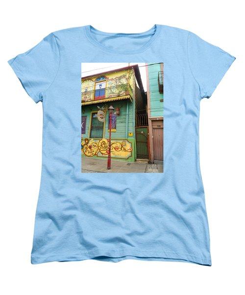Women's T-Shirt (Standard Cut) featuring the photograph Caminito La Boca by Silvia Bruno
