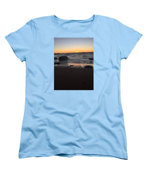 Women's T-Shirt (Standard Cut) featuring the photograph Camp In The Fall by Paula Brown