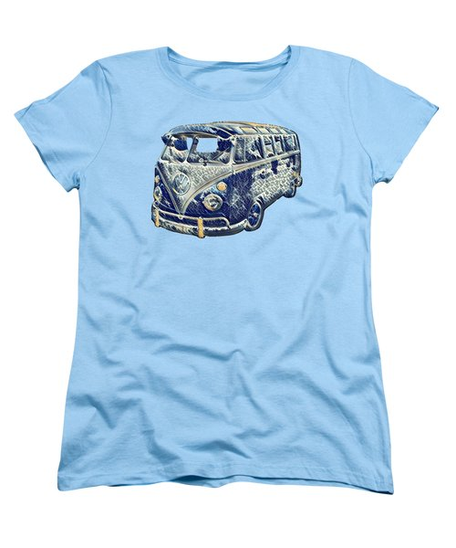 Women's T-Shirt (Standard Cut) featuring the photograph Camper Van Waves by John Colley