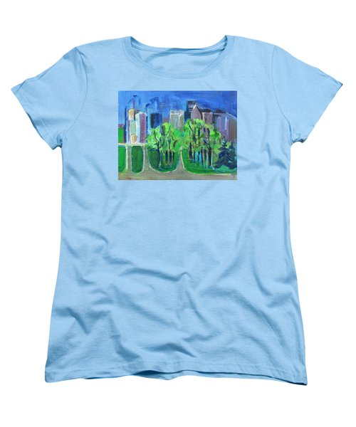 Women's T-Shirt (Standard Cut) featuring the painting Campus by Betty Pieper