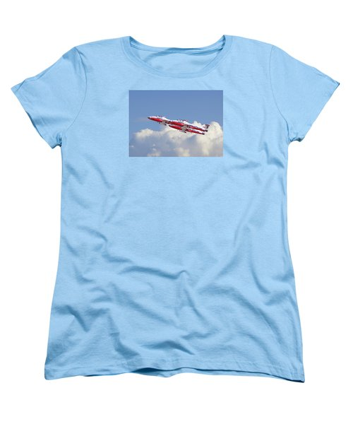 Women's T-Shirt (Standard Cut) featuring the photograph Canadian Air Force Aerobatic Team - Snowbirds by Pat Speirs