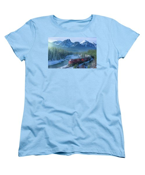 Canadian Pacific Railway Through The Rocky Mountains Women's T-Shirt (Standard Cut) by Rod Jellison