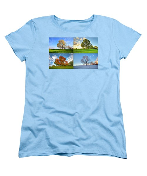 Canadian Seasons Women's T-Shirt (Standard Cut) by Mircea Costina Photography