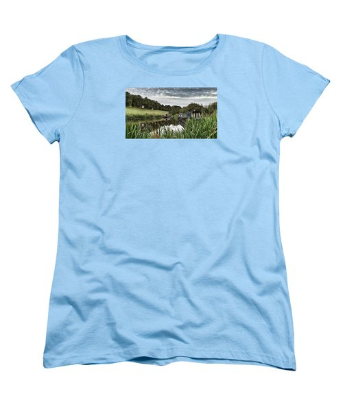 Canal Boats Women's T-Shirt (Standard Cut) by RKAB Works