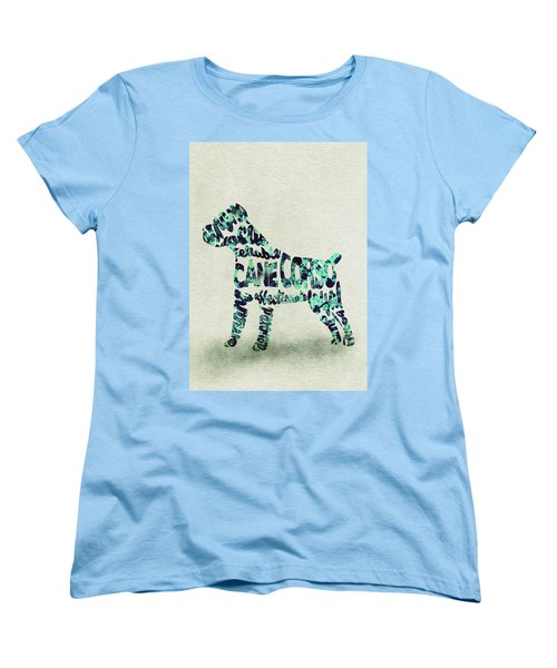 Cane Corso Watercolor Painting / Typographic Art Women's T-Shirt (Standard Fit)